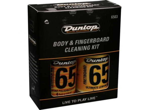 Produtos de limpeza para guitarra Dunlop System 6503 Body And Fingerboard Cleaning Kit