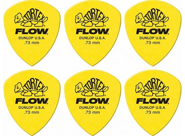 Acessórios Guitarra Dunlop Palhetas para guitarra Dunlop Tortex Flow Amarelo