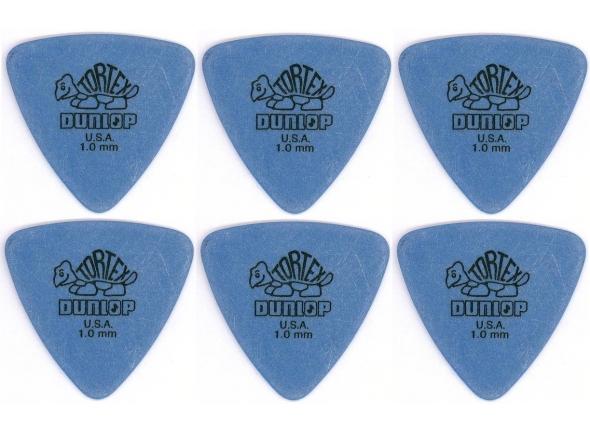 Palhetas para guitarra Dunlop Tortex Triangle 1,00 6 Pack