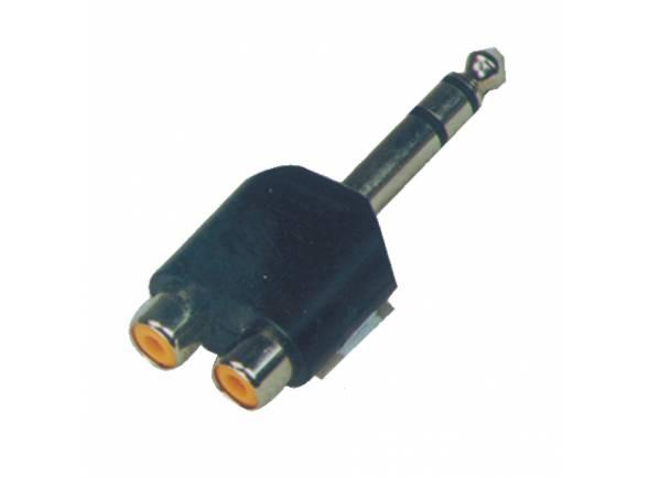 Conectores e adaptadores Egitana Adaptador 2x RCA-Jack stereo CC311