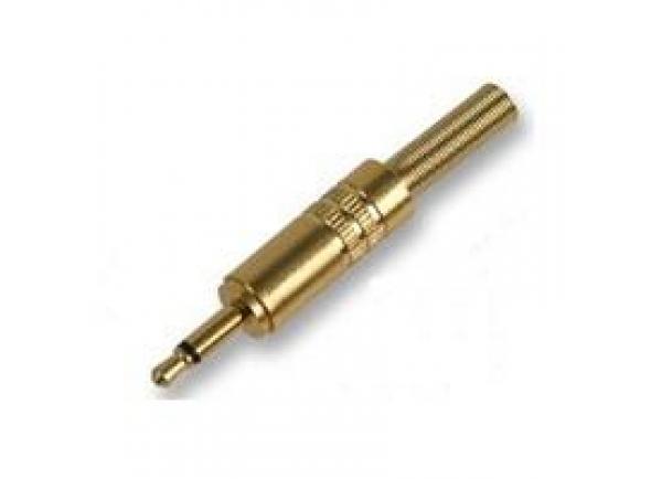 Ficha mini jack/Fichas Jack de 3.5mm (macho e fêmea) Egitana  Ficha Jack 3.5 Macho Mono E Protetor Dourado