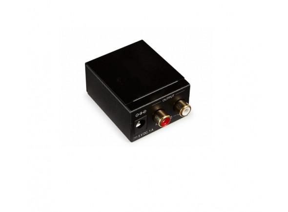 Conversores analógico-digital Egitana PKOPCOAX Conversor audio digital toslink/rca para analogico rca c/ alim.