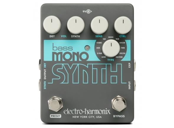 Pedal de efeitos Synth/Pedais para baixo Electro Harmonix Bass Mono Synth
