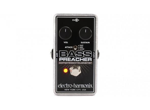Pedal de efeitos para baixo elétrico/Pedaleiras de efeitos para baixo Electro Harmonix  Bass Preacher