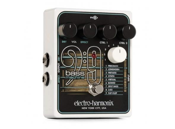 Pedal de efeitos para guitarra elétrica/Outros efeitos para guitarra elétrica Electro Harmonix BASS9 Bass Machine