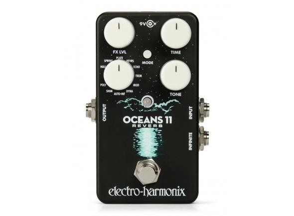 Pedal de efeitos reverb/Efeitos reverb e hall Electro Harmonix Harmonix Oceans 11 Reverb