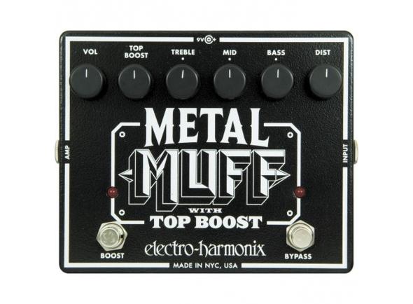 Pedal de distorção Electro Harmonix Metal Muff/ Top Boost