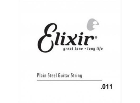 Cordas individuais para guitarra Elixir .011 Single String Plain Steel