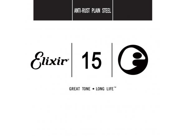 Corda para guitarra elétrica e acústica/Cordas individuais para guitarra elétrica Elixir .015 Plain steel