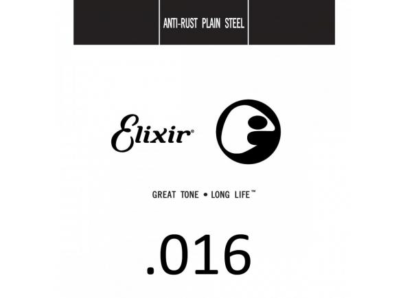 Cordas individuais para guitarra Elixir .016 Plain Steel