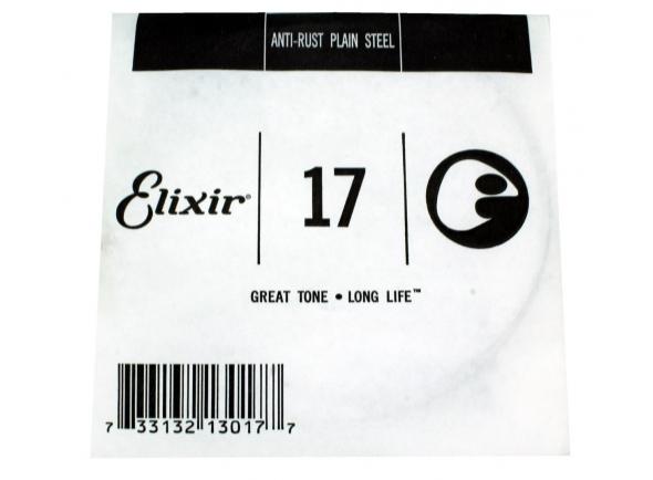 Corda individual para guitarra elétrica e acústica/Cordas individuais para guitarra Elixir .017 Plain Steel
