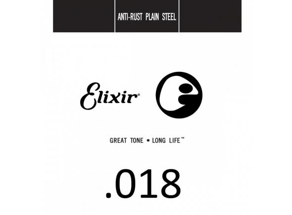 Corda para guitarra elétrica e acústica/Cordas individuais para guitarra elétrica Elixir .018 Plain steel