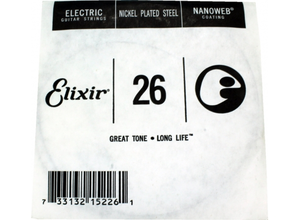 Corda individual para guitarra elétrica/Cordas individuais para guitarra Elixir 0.26 Electric Guitar