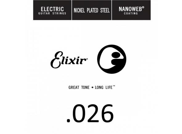 Corda para guitarra elétrica/Cordas individuais para guitarra elétrica Elixir .026 Electric guitar