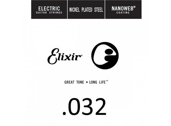 Corda para guitarra elétrica/Cordas individuais para guitarra elétrica Elixir .032 Electric guitar