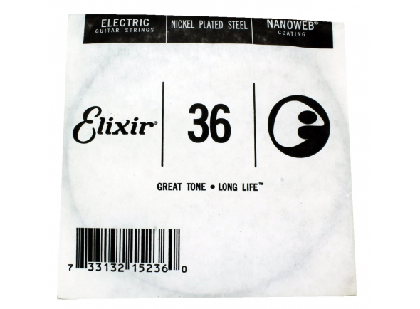 Corda individual para guitarra elétrica/Cordas individuais para guitarra Elixir .036 Electric Guitar