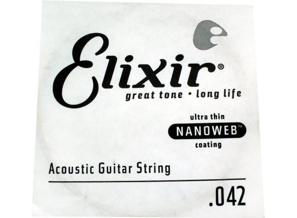 Corda para guitarra acustica /Cordas individuais para guitarra Elixir .042 Western guitar