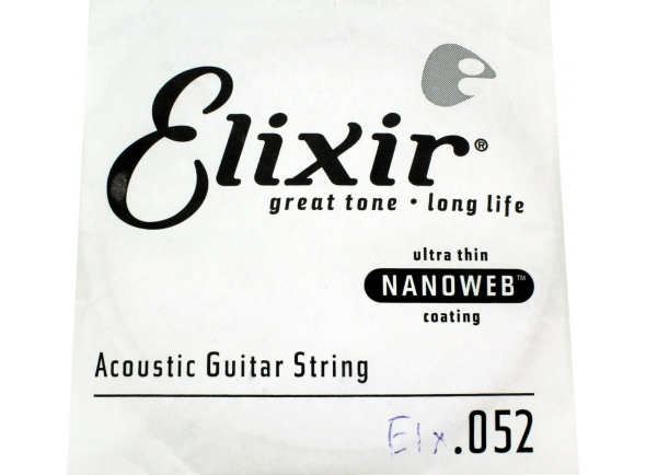 Corda individual em aço para guitarra acústica/Cordas individuais para guitarra Elixir .052 Western guitar