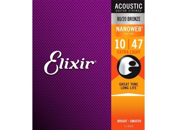Cordas Western revestidas Elixir Nanoweb Extra Light Acoustic