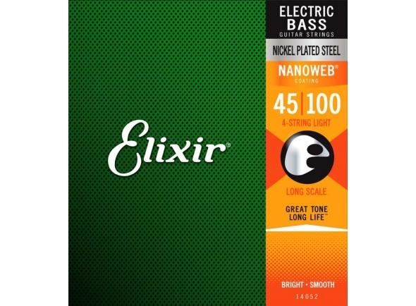 Jogos de cordas para baixo elétrico Elixir Nanoweb Light Bass Guitar