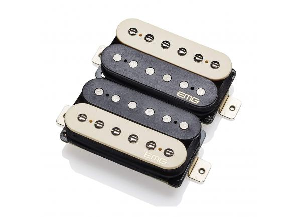 Captadores para guitarra elétrica EMG Fat 55-F Set Zebra