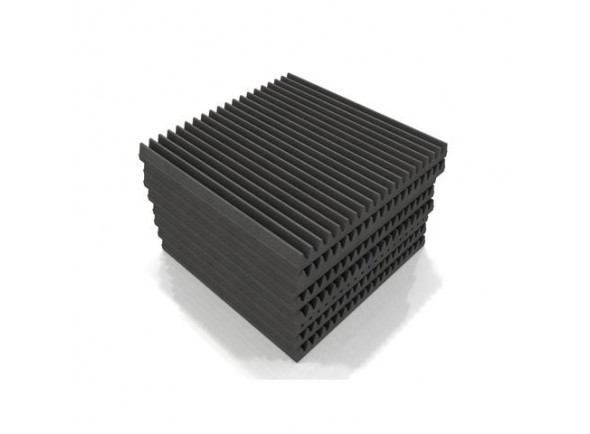 Absorvedores de espuma acústica/Absorvedores standard EQ Acoustics   Classic Wedge 60cm Tile grey