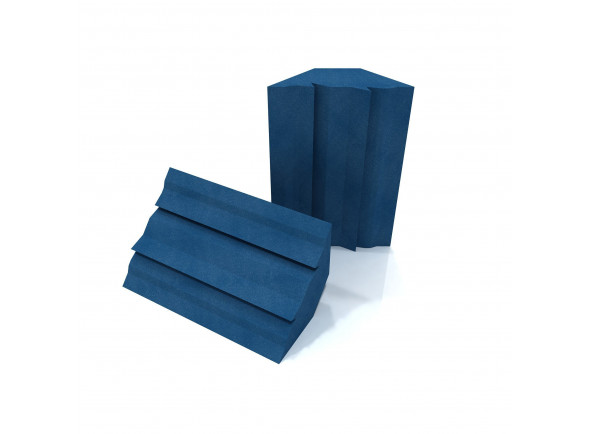 Absorvedor de baixo - Par/Basstraps / Absorvedores de canto EQ Acoustics   Project Corner Traps blue