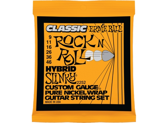 Jogos de cordas para guitarra elétrica Ernie Ball 2252