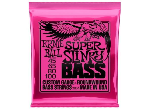 Jogos de cordas para baixo elétrico Ernie Ball 2834 Super Slinky