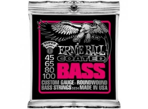 Jogos de cordas para baixo elétrico Ernie Ball 3834 Coated Bass Super 45-100