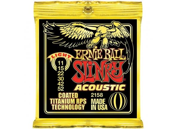Jogo de cordas .011 Ernie Ball Slinky Acoustic 2158