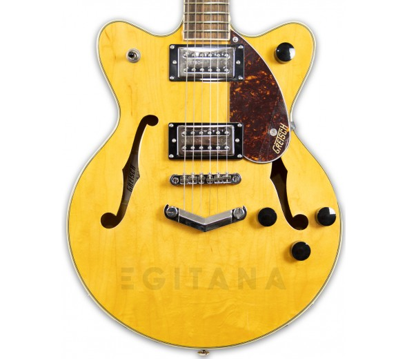 Guitarras formato Double Cut Gretsch G2655 Streamliner Center Block Jr. V-Stoptail LRL Village Amber