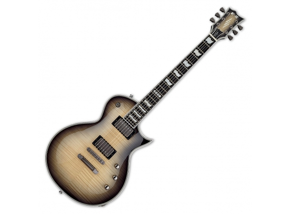 Guitarras formato Single Cut ESP E-II Eclipse FM BLK NAT B