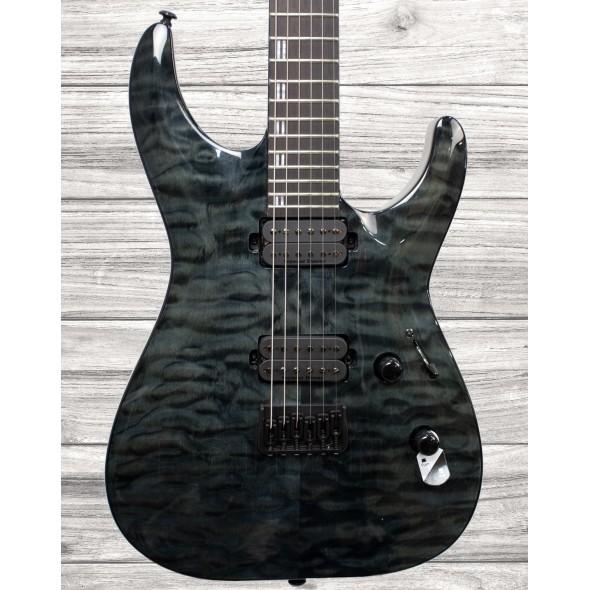 Guitarras formato ST ESP LTD H-1001 QM See Thru Black