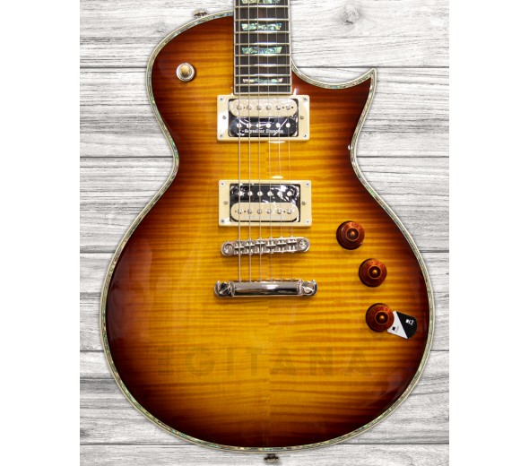 Guitarras formato Single Cut ESP LTD EC-1000FM Amber Sunburst