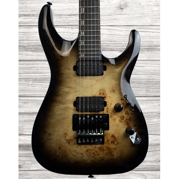 Guitarras formato ST ESP LTD H-1001 FR BP Black Natural Burst