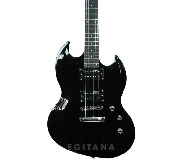 Guitarra elétrica/Guitarras formato Double Cut ESP  LTD Viper-10 BLK