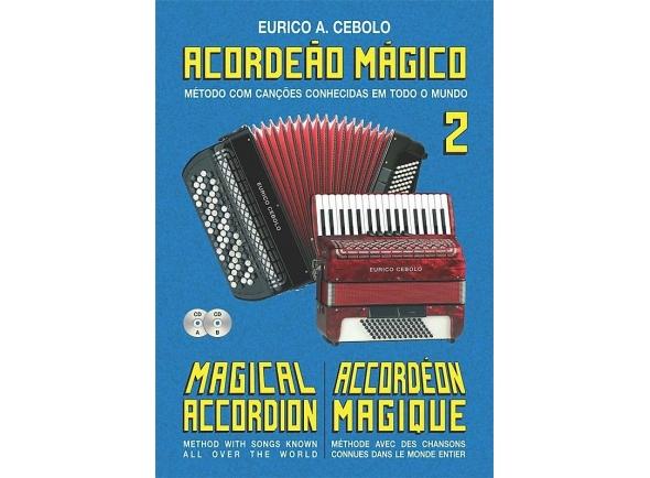 Livros de Acordeão Eurico A. Cebolo Kit acordeao magico 2 + 2cds