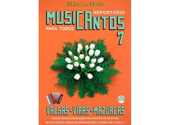 Livros de Acordeão Eurico A. Cebolo Musicantos 7 - Valsas / Viras / Mazurkas