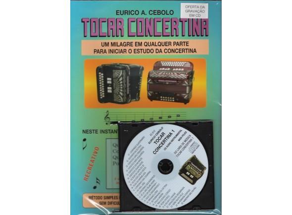 Método para aprendizagem/Livros de concertina Eurico A. Cebolo Tocar Concertina 1 com CD