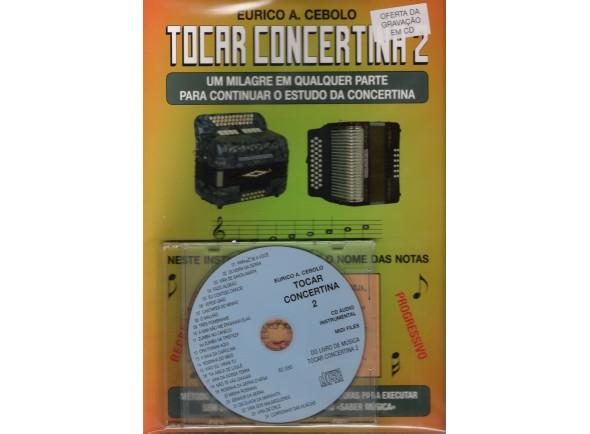 Método para aprendizagem/Livros de concertina Eurico A. Cebolo Tocar Concertina 2 com CD