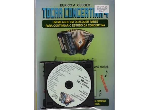 Método para aprendizagem/Livros de concertina Eurico A. Cebolo Tocar Concertina 4 com CD
