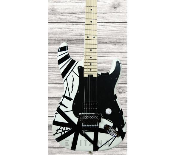 Guitarras formato ST EVH  Stripe White