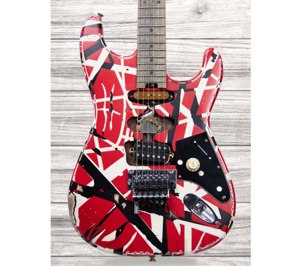 Guitarras formato ST EVH Striped Frankie, Red/White/Black