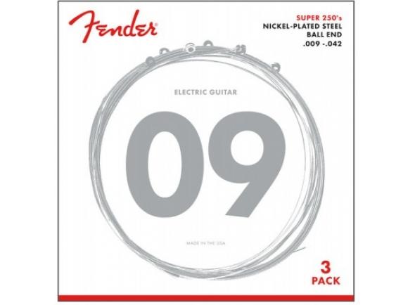 Jogo de cordas .009 Fender 250L-3-packs Guitar Strings .009-.042
