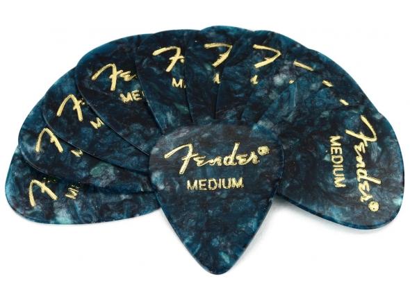 Palhetas para guitarra Fender 351 Shape Premium Celluloid Picks - Medium Ocean Turquoise 12-pack
