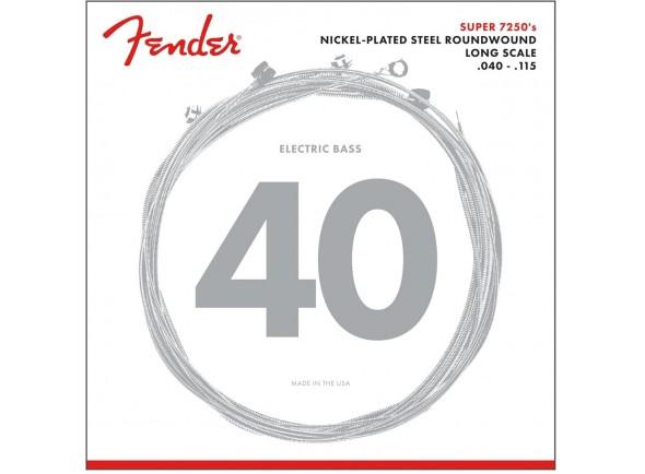 Jogo de 5 Cordas para Baixo Electrico/Jogo de cordas .040 para baixo elétrico de 5 cordas Fender 7250 5L