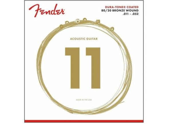 Jogo de cordas .011 Fender 880CL Dura-Tone Coated 80/20 Bronze 11-52