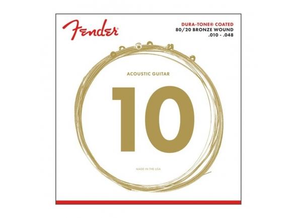 Jogo de cordas .010 Fender 880XL 80/20 Dura-Tone com Revestimento 10-48