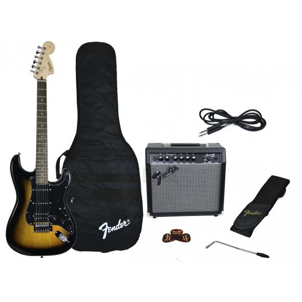 Guitarra tipo ST/Packs de guitarra  Fender Affinity Strat Pack HSS Brown Sunburst